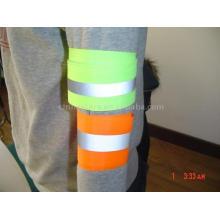 100% poliéster calentamiento Brazo reflectante y banda de tobillo