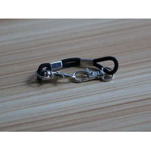 promotional custom metal hook type with line for bracelets