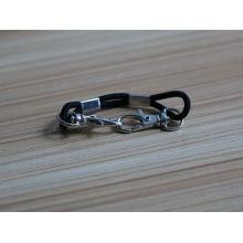 Laço de borracha preto simples atacado com snap bracelete de gancho
