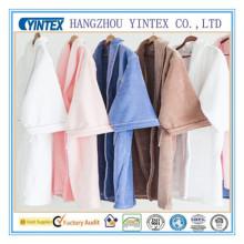 Mens Knit Sleepwear Short léger Short Robe Bathrobe