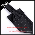 100% Handmade Silk Woven Polka Dot Ascot Tie and Cravat