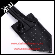 100% handgemachte Seide gewebt Polka Dot Ascot Krawatte und Krawatte
