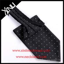 100% шелка ручной тканые горошек ascot галстук и галстук