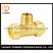 Male Brass Unleaded Quick-Connect T-Joint Fittings (YS3009)