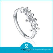 Flor em forma de anel de prata 925 Sterling (SH-R0390)