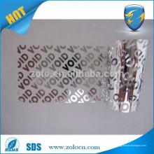 Мэтт серебристый штрих-код печати прозрачный защитный стикер