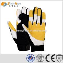 Guantes de trabajo guantes mecánicos guantes de cuero de cabra