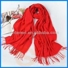 Модный сплошной цвет 100% шерстяной шарф
