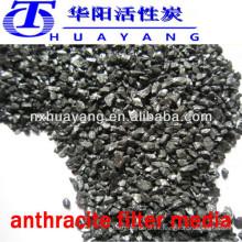 Medio de filtro HY AFM-113 85% min antracita para tratamiento de purificación