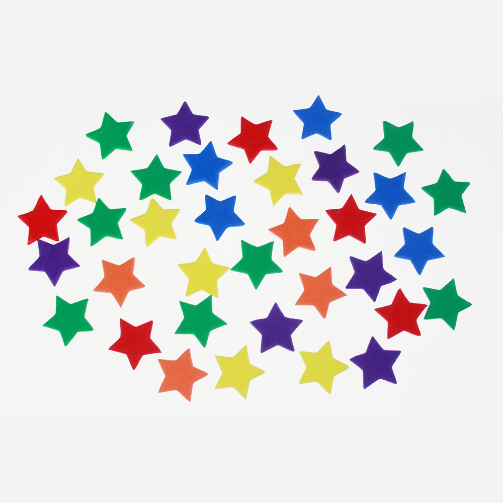 Mixed colors EVA foam star assortment
