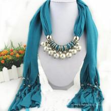 Borlas elegantes del encanto de las mujeres de la manera Rhinestone adornado joyería bufanda de la manera del colgante Jeweled gris de la mujer