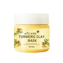 Private Label Natural Calcium Bentonite Deep Cleansing Face Mask Brightening Hydrating Skin Turmeric Powder Clay Facial Mask