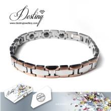 Cruzam de destino joias cristais de Swarovski pulseira bracelete
