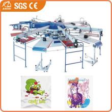 Máquina de impressão de t-shirt de rotação automática multi cor
