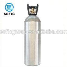 CGA 320 valve co2 aluminum bottle, gas cylinder