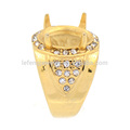 Latest crystal gold stainless steel finger ring designs, indonesia engagement ring