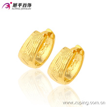90179 Latest Fashion Gold No Stone Jewelry Earring Hoops