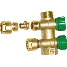 Brass 2-Way Manifolds with Plastic Caps (a. 0181)