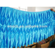 Fascinating!!! 2012 banquet style table cloth,table skirt,honeycomb style,fashion design