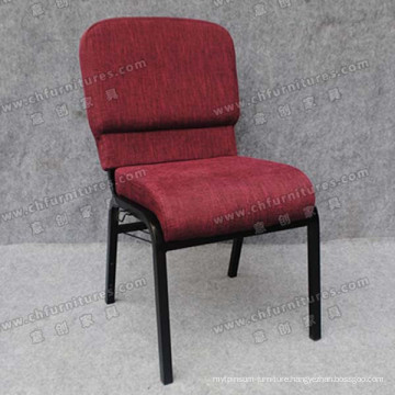 Dark Red Fabric Church Chair (YC-G36-01)