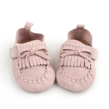 Soft Cow Leather ikatan simpul Kanak-kanak Baby Girl Moccasins