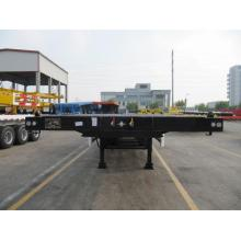 China Top 10 for CIMC Flatbed Trailer 50T CIMC FLATBED SEMI-TRAILER export to Mexico Factory