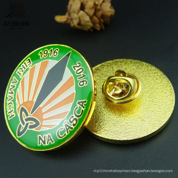 Top Sell Custom Logo Round Print Pin Metal LED Badge for Promotional Gift