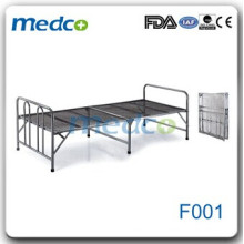 Cheap stainless steel folding hospital flat bed F001