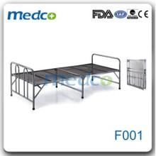 Недорогая нержавеющая сталь складная больничная плоская кровать F001