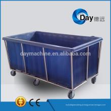 HM-28 carrinhos de lavanderia de aço inoxidável com corpo de plástico