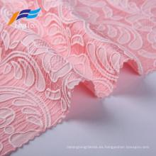 Tejido 100% poliéster del traje de las mujeres del bordado del telar jacquar