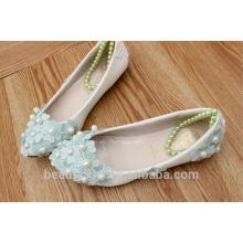 PU fleur à diamants en or fleur de demoiselle d'honneur sélection de chaussures de robe de studio de haute qualité et chaussures pour femmes WS026