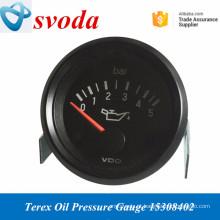 Medidores de pressão de óleo hidráulico psrts de caminhão basculante sobressalentes da Terex 15308402