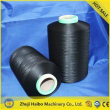 2015 100 poliester hilados para coser hilo poliéster de aire cubierto hilado con spandex hilado que hace punto