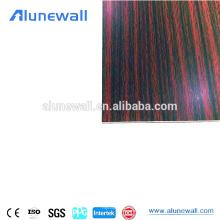 La madera tiene gusto de los muebles antirrayaduras usados los paneles compuestos de aluminio del acp para hacer el escritorio