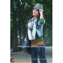 high quality checked cashmere scarfs fashion style