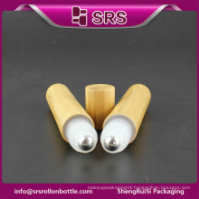 High quality bamboo roll on empty bottle and 15ml pharmaceutical plastic bottle