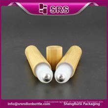 Rolo de bambu de alta qualidade no frasco vazio e garrafa de plástico farmacêutico de 15ml