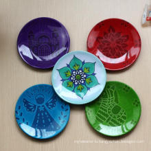 (BC-PM1032) High Quality Reusable Imitation Porcelain Melamine Plate