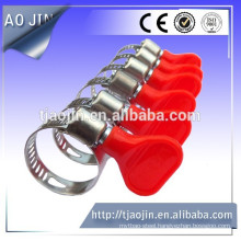 Butterfly handle type hose clamp hose clamp