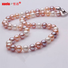 Round Multicolor Genuine Fresh Water Pearl Aaaa Necklace Design
