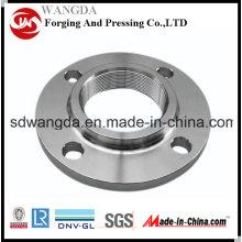 Bride forgée en acier au carbone hydraulique à haute pression de DIN / ASTM