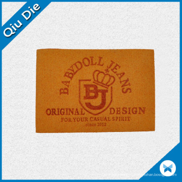 PU material Leather Labels USD Fro Tourser Patch