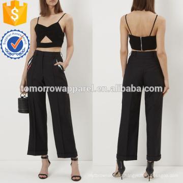 Черный сексуальный Топ-бюстье Производство Оптовая продажа женской одежды (TA4013B)