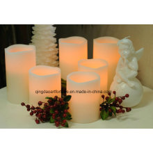 Flameless LED Candle with Many Finishes