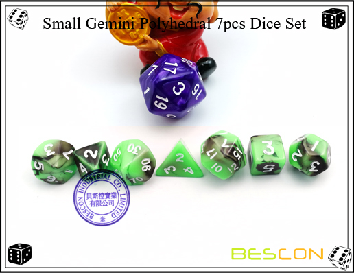 Small Gemini Polyhedral 7pcs Dice Set-3