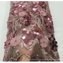 Tissus de dentelle appliqués élégants de luxe pour robe