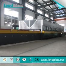 Linha de revenimento de vidro elétrico do certificado do CE / ISO da convecção do jato de Landglass / fornalha de moderação de vidro