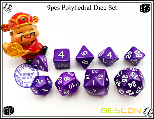 9pcs Polyhedral Dice Set-27