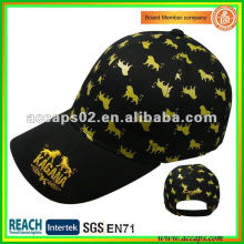 gold metallic embroidery baseball cap BC-0160